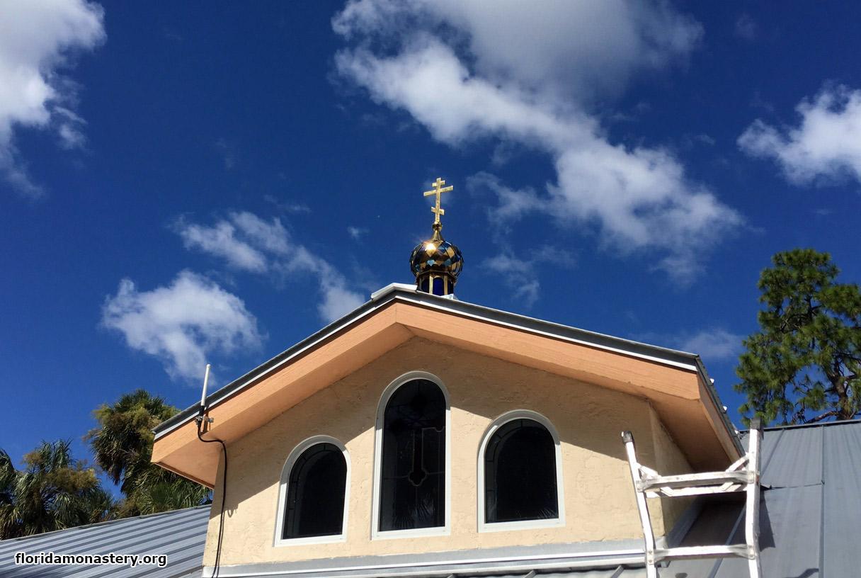 В монастыре святого Николая установлены купола