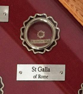 Святая Галла Римская (+550)