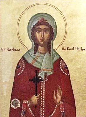 Великомученица Варвара Никомидийская (+304)