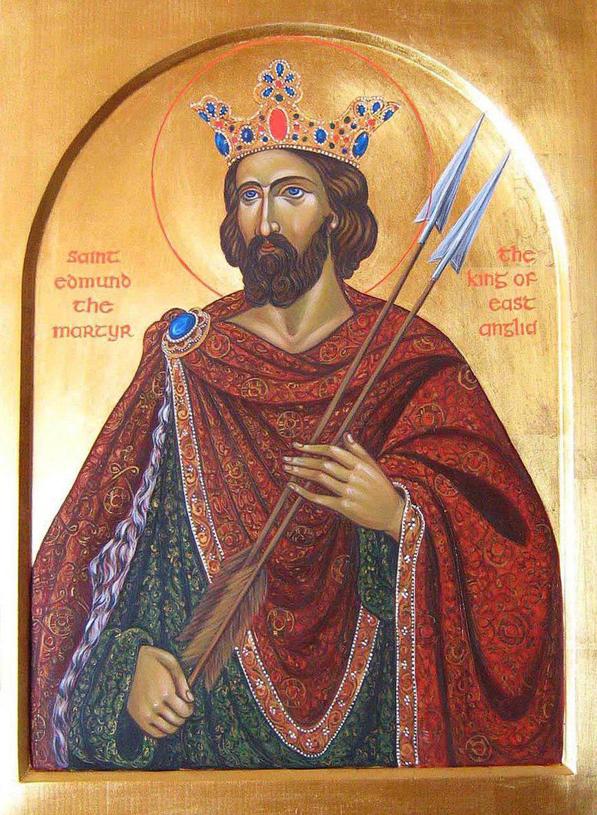 Мученик Эдмунд, король Восточной Англии (+870)