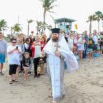 На праздник Богоявления братия монастыря приняла участие в освящении вод океана в Майами