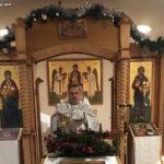 Накануне Богоявления в монастыре совершено праздничное богослужение и великое освящение воды